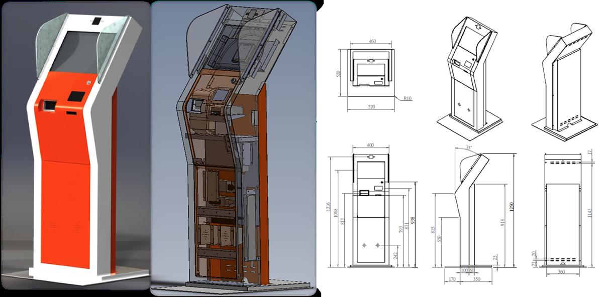 KIOSK外観デザインと筐体設計
